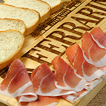 Seasoned Culatta and cured meats